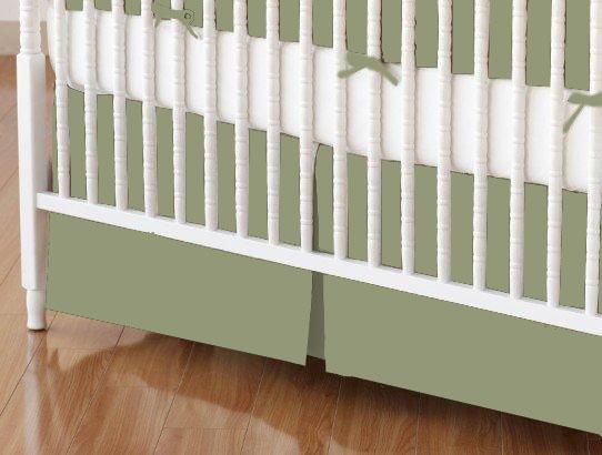 Crib Skirt - Solid Sage Jersey Knit