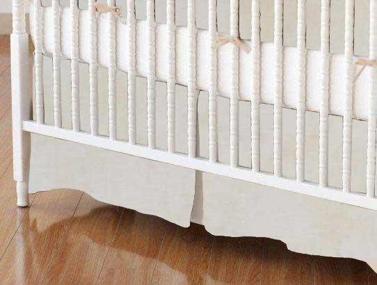 Crib Skirt - Marble Cream
