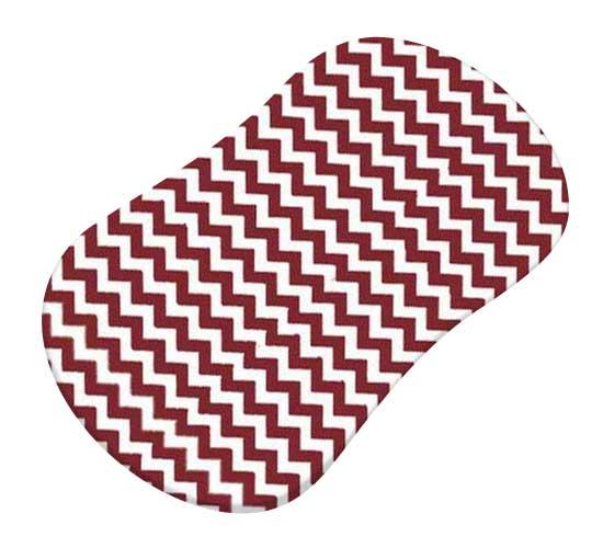 Burgundy Chevron Zigzag