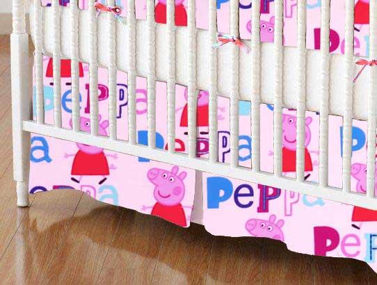 Crib Skirt - Peppa Pig Pink