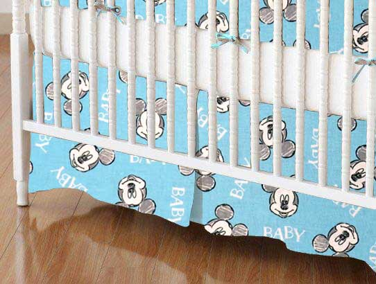 Crib Skirt - Mickey Mouse Baby