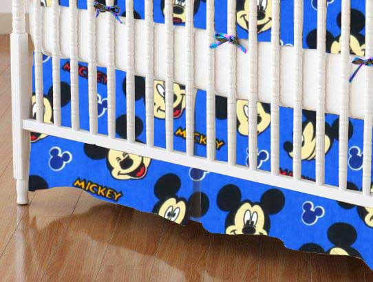Crib Skirt - Mickey Mouse Blue