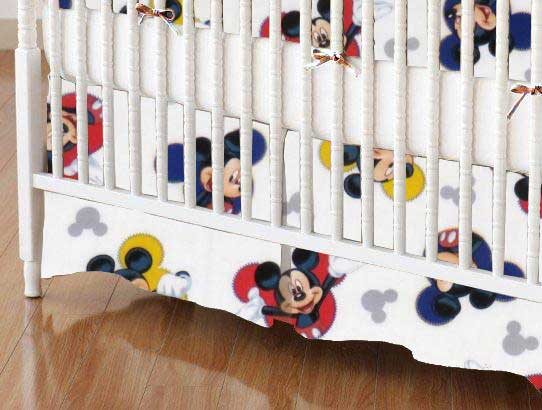 Crib Skirt - Mickey Mouse