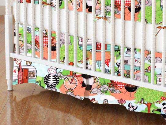 Crib Skirt - Animal Picnic