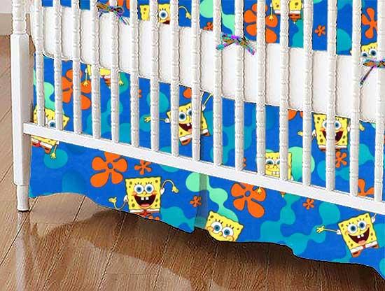 Crib Skirt - Sponge Bob