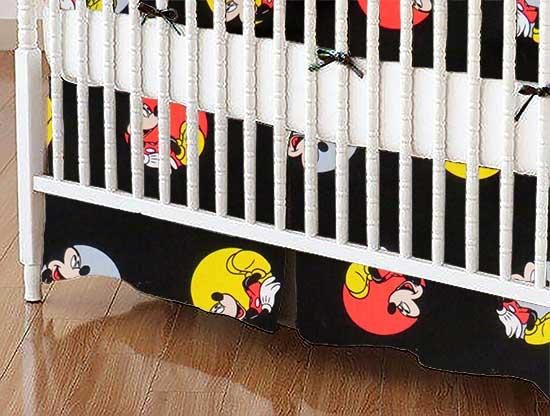 Crib Skirt - Mickey Mouse Circles