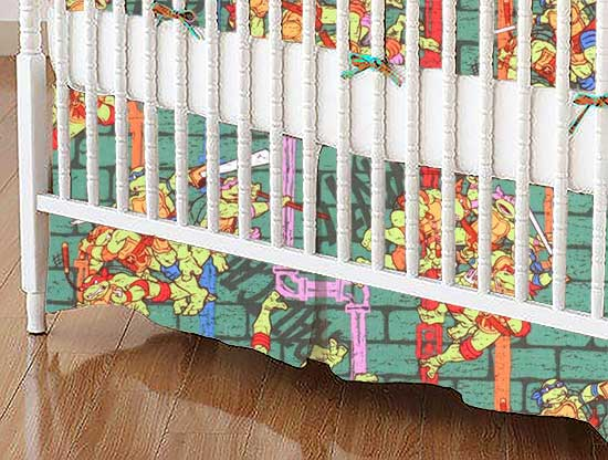 ninja turtles power portable mini crib sheets sheetworld