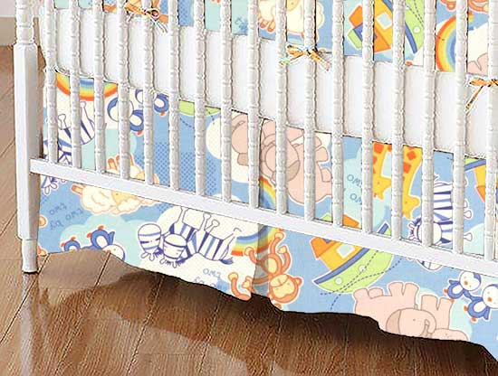 Crib Skirt - Noahs Ark