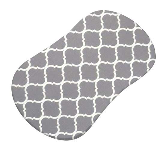 Grey Large Quatrefoil