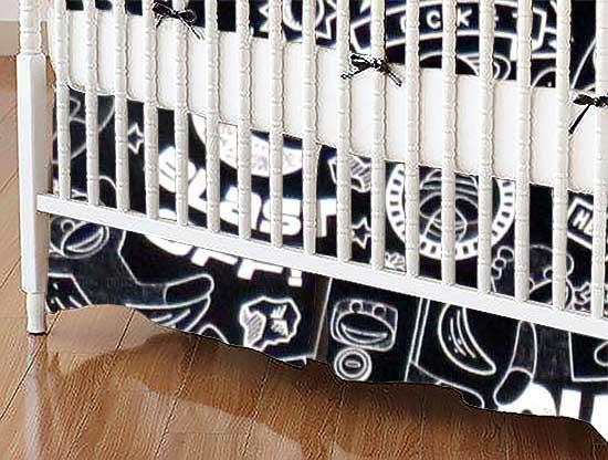 Crib Skirt - Monkeys Outer Space