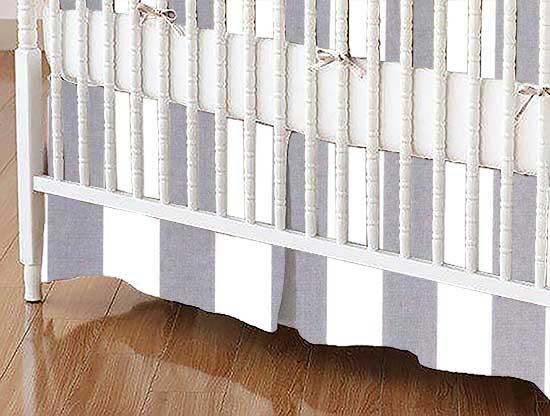 Crib Skirt - Grey Stripe