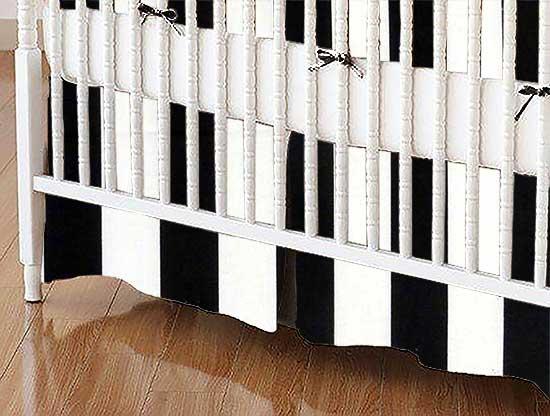 Crib Skirt - Black Stripe