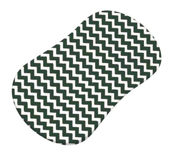Hunter Green Chevron Zigzag