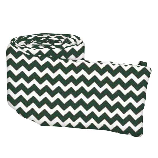 Hunter Green Chevron Zigzag