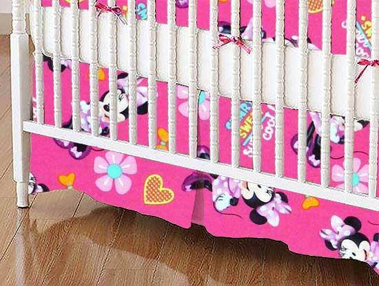Crib Skirt - Minnie Mouse Super Cool