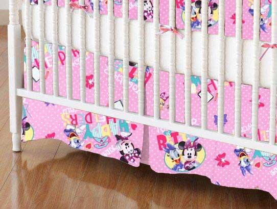 Crib Skirt - Minnie & Daffy