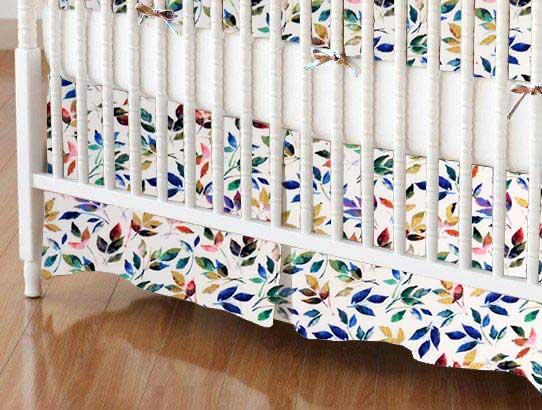 Crib Skirt - Colorful Petals