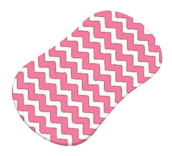 Bubble Gum Pink Chevron Zigzag
