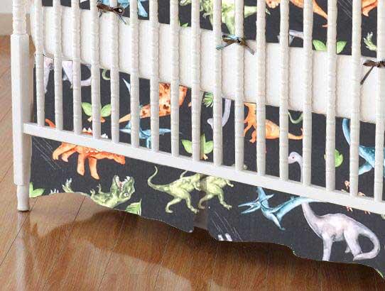 Crib Skirt - Dinosaurs Hunter