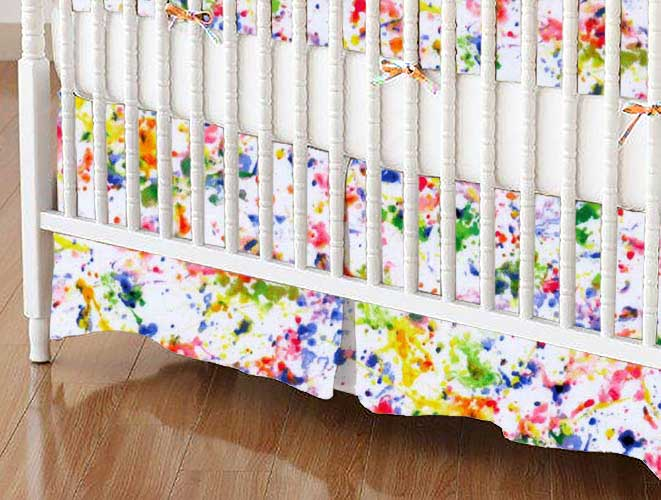 Crib Skirt - Paint Splash