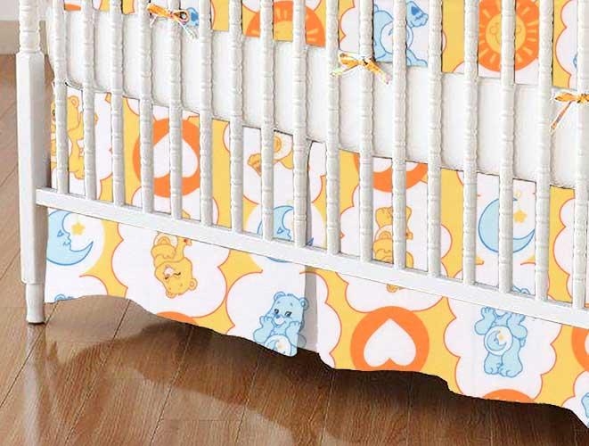 Crib Skirt - Care Bears Yellow