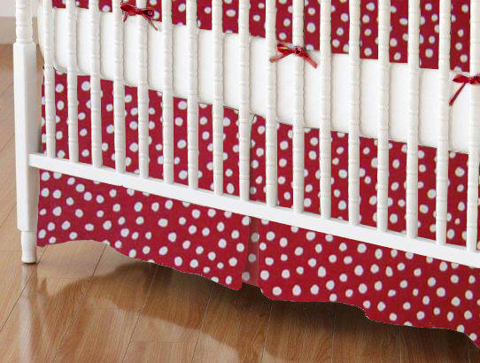 100% Cotton Woven - Fun Dots Mini Crib Skirts