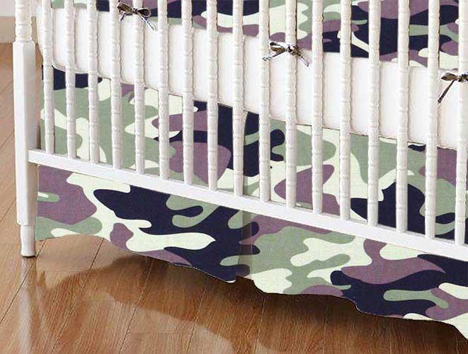 Crib Skirt - Camo