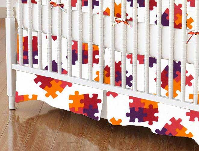 Crib Skirt - Puzzle