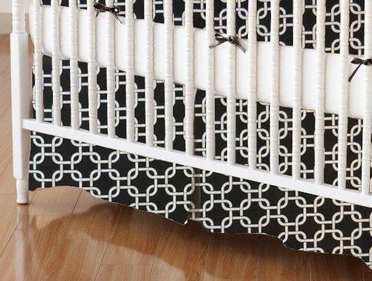 Crib Skirt - Black Links