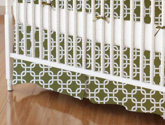 Crib Skirt - Sage Links