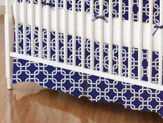 Crib Skirt - Purple Links