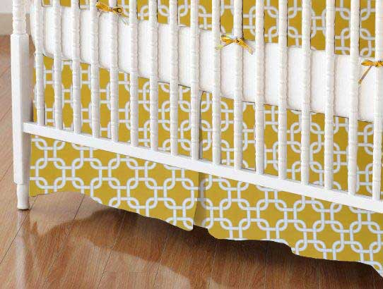 Crib Skirt - Mustard Yellow Links
