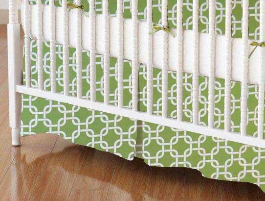 Crib Skirt - Citrus Links