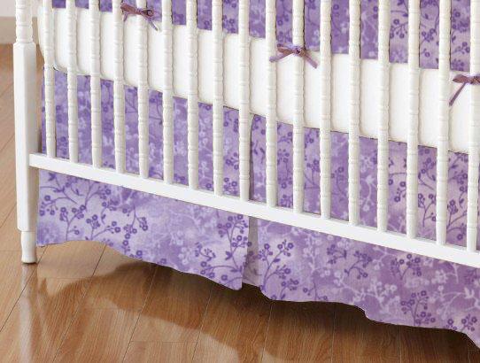 Crib Skirt - Lavender Floral