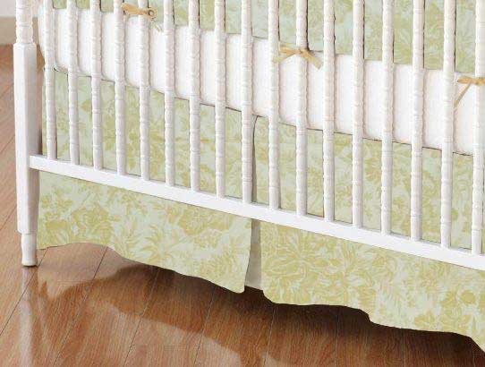 Crib Skirt - Floral Forest Cream
