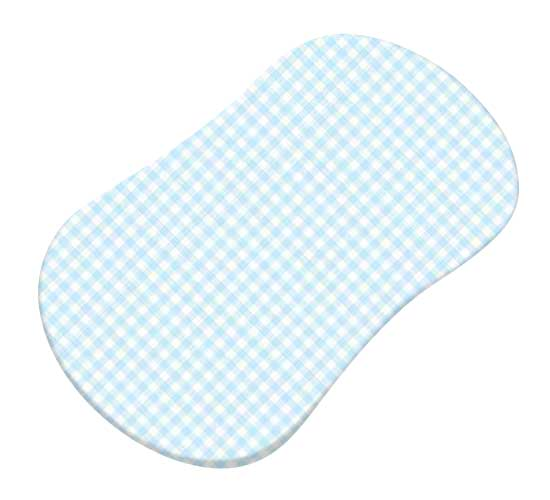 Pastel Blue Gingham Woven Bassinet Fits Halo Sheets
