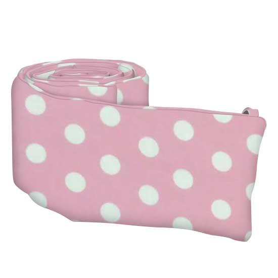 Pastel Pink Polka Dots Woven