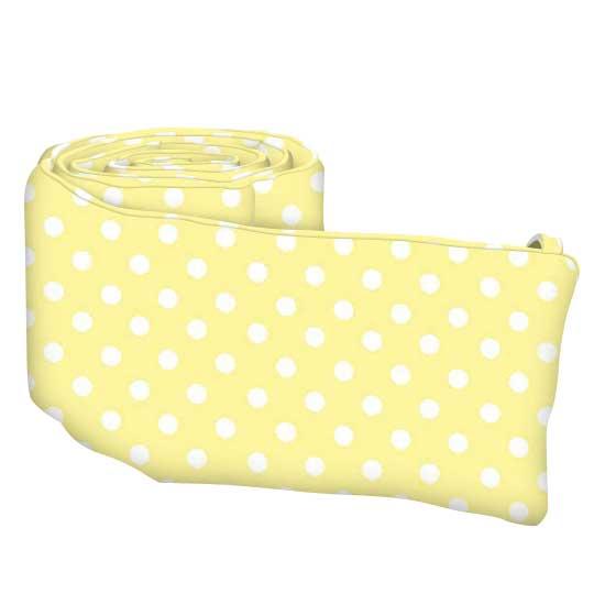 Pastel Yellow Polka Dots Woven