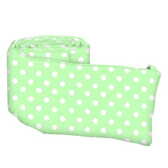 Pastel Green Polka Dots Woven