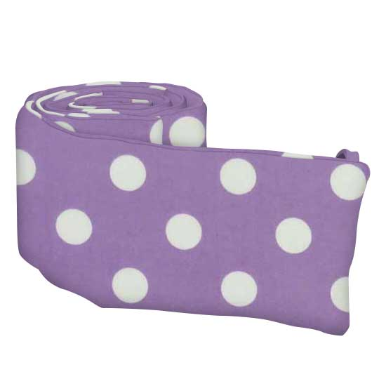 Pastel Lavender Polka Dots Woven