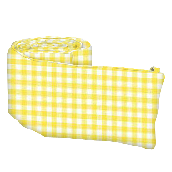 Primary Yellow Gingham Woven Portable Mini Crib Sheets