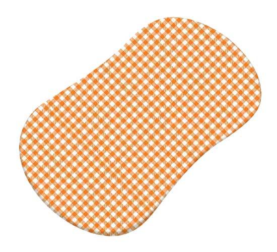 Primary Orange Gingham Woven