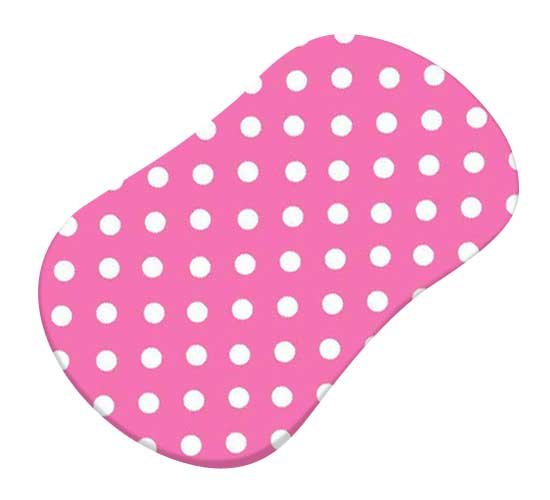 Primary Polka Dots Pink Woven