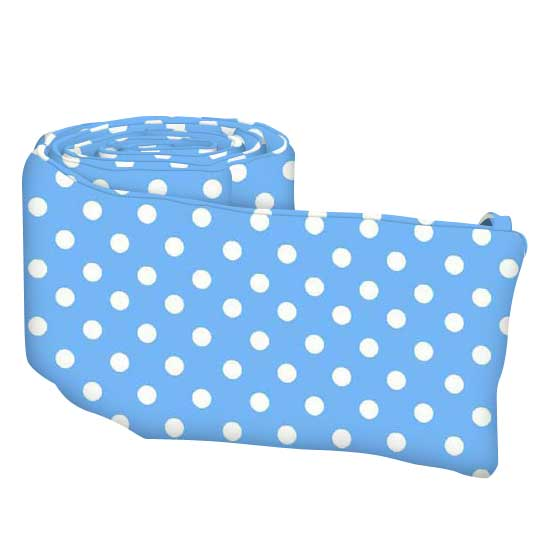 Primary Polka Dots Blue Woven