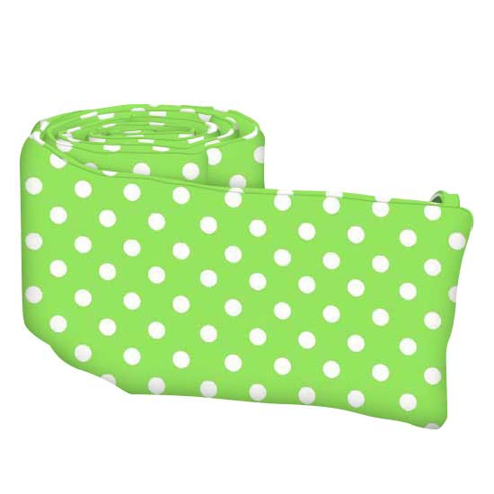 Primary Polka Dots Green Woven
