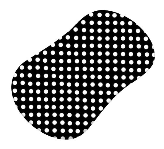 Primary Polka Dots Black Woven