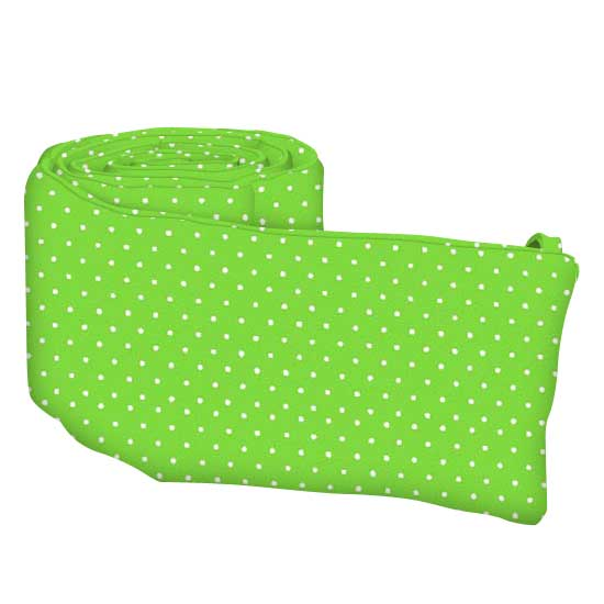 Primary Pindots Green Woven