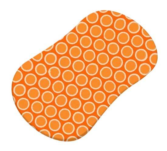 Primary Bubbles Orange Woven