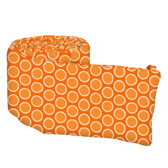 Primary Bubbles Orange Woven