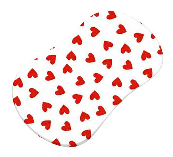 Primary Hearts Red Woven